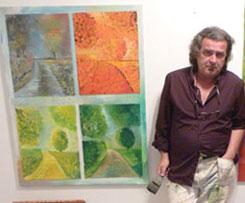 Zijo Zolic framför en målning